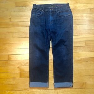 7 For All Man Kind The Straight Cropped BF Jean